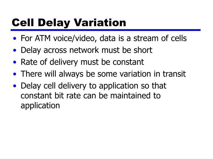 Cell Delay Variation