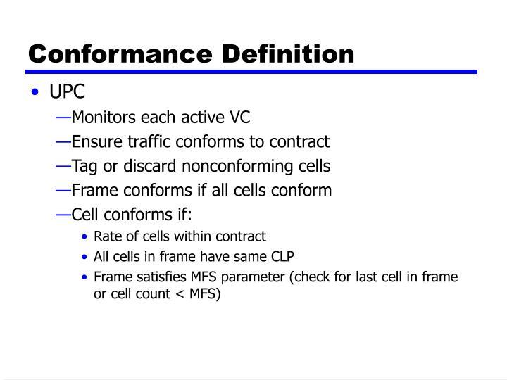 Conformance Definition