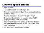 latency speed effects