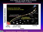 first evidence for vacuum energy in universe acceleration of universe