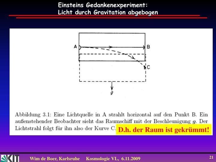 Einsteins Gedankenexperiment: