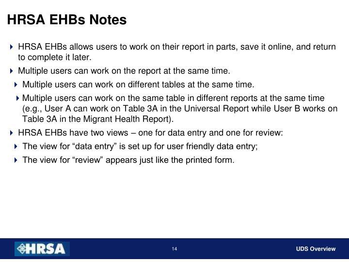 HRSA EHBs Notes