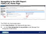 navigating to the uds report fqhc lal home page