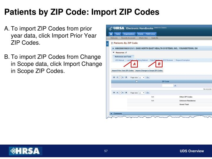 Patients by ZIP Code: Import ZIP Codes