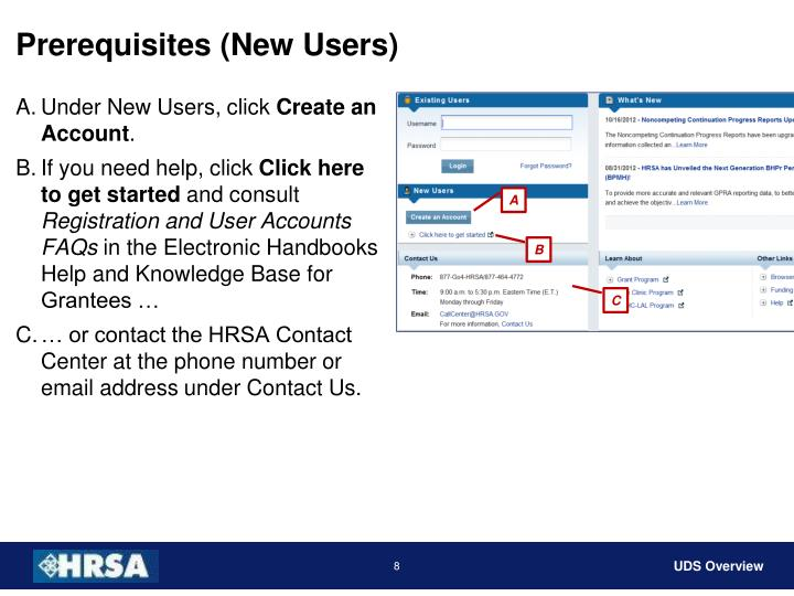 Prerequisites (New Users)