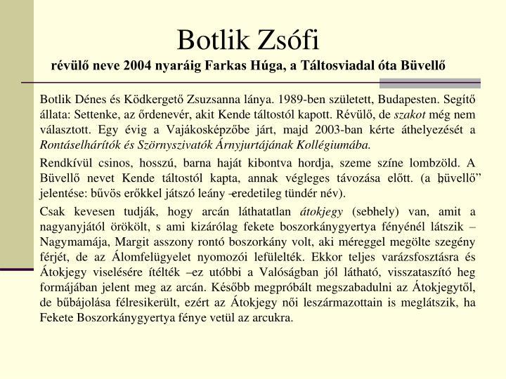 Botlik Zsófi
