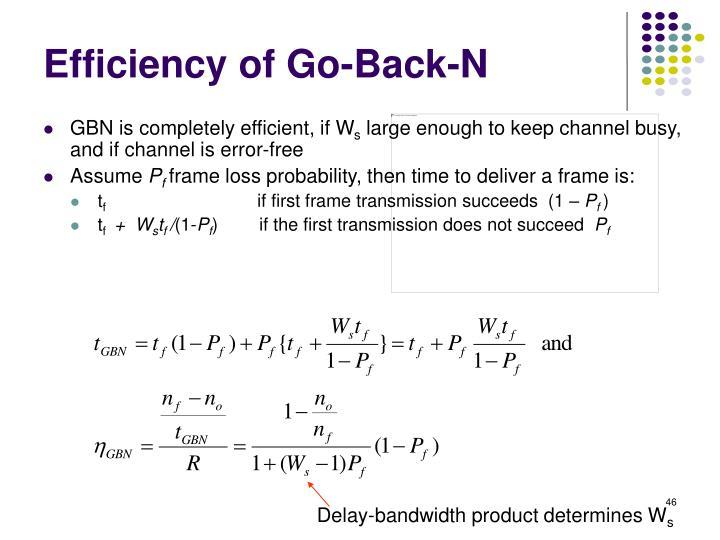 Efficiency of Go-Back-N