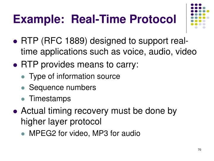 Example:  Real-Time Protocol