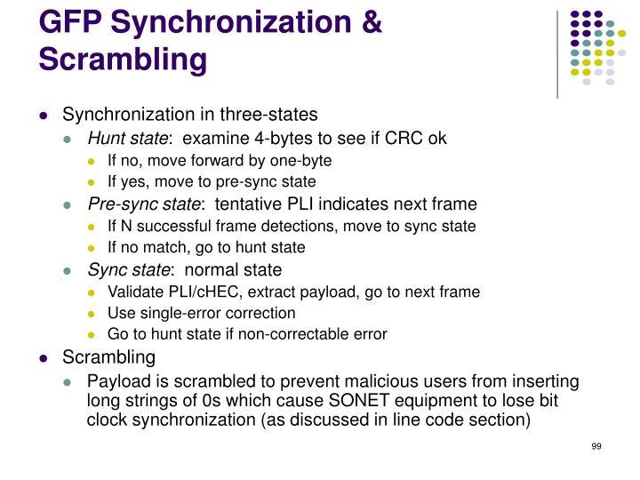 GFP Synchronization & Scrambling
