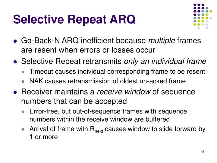 Selective Repeat ARQ