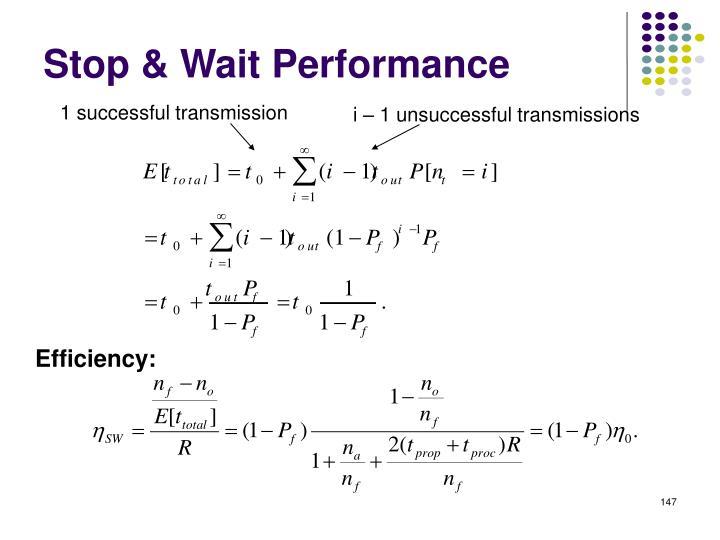 Stop & Wait Performance
