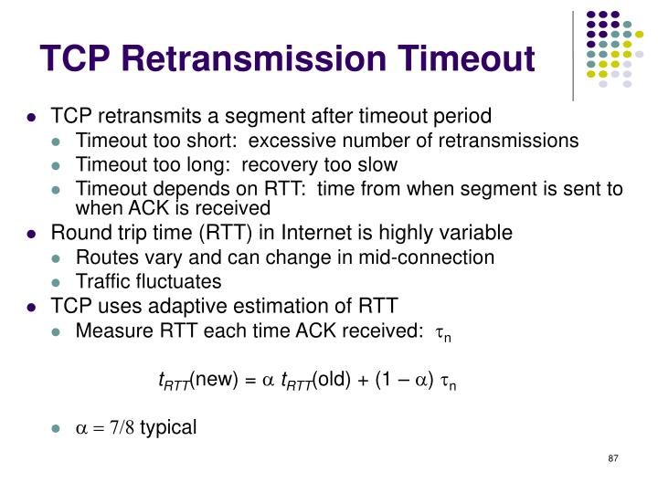 TCP Retransmission Timeout