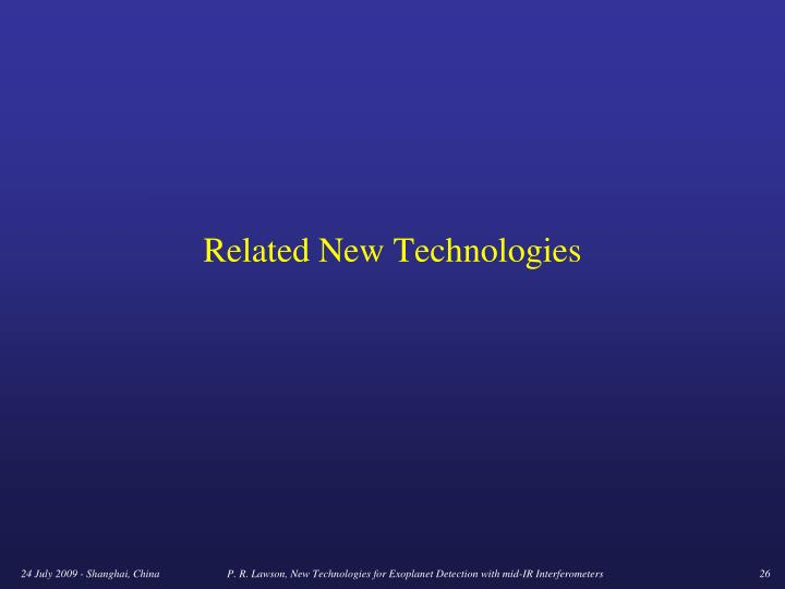 Related New Technologies