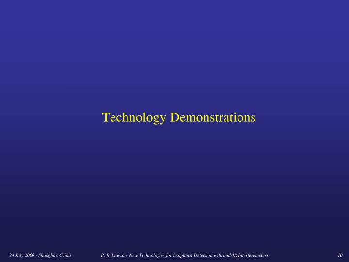 Technology Demonstrations
