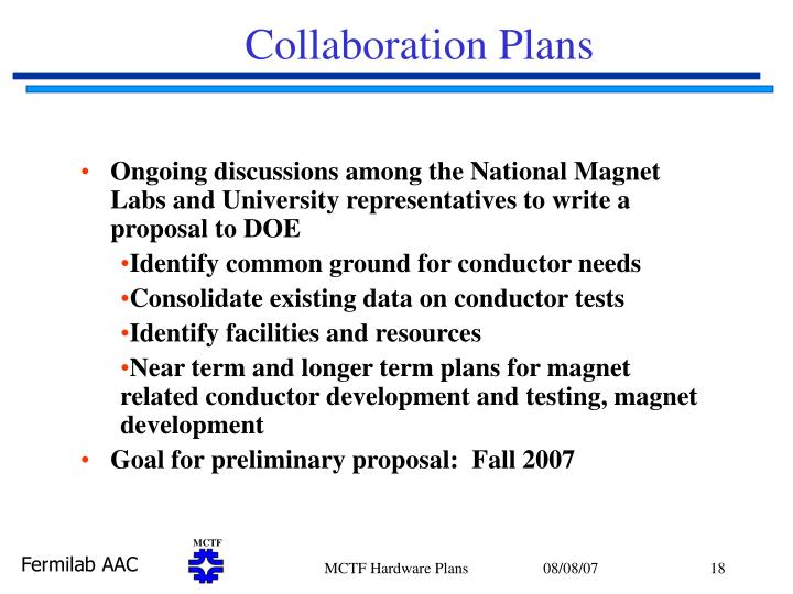 Collaboration Plans