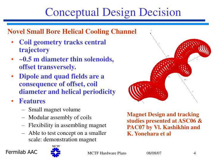 Conceptual Design Decision