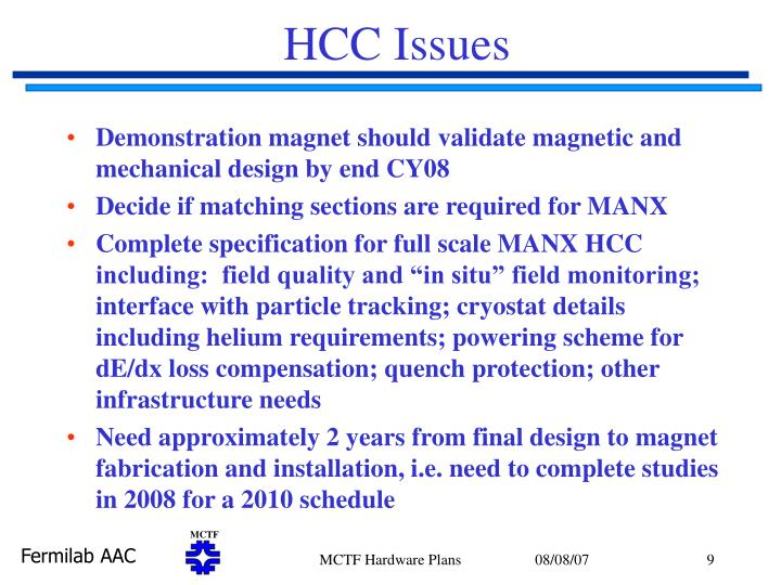 HCC Issues