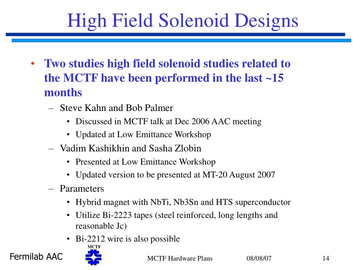 High Field Solenoid Designs