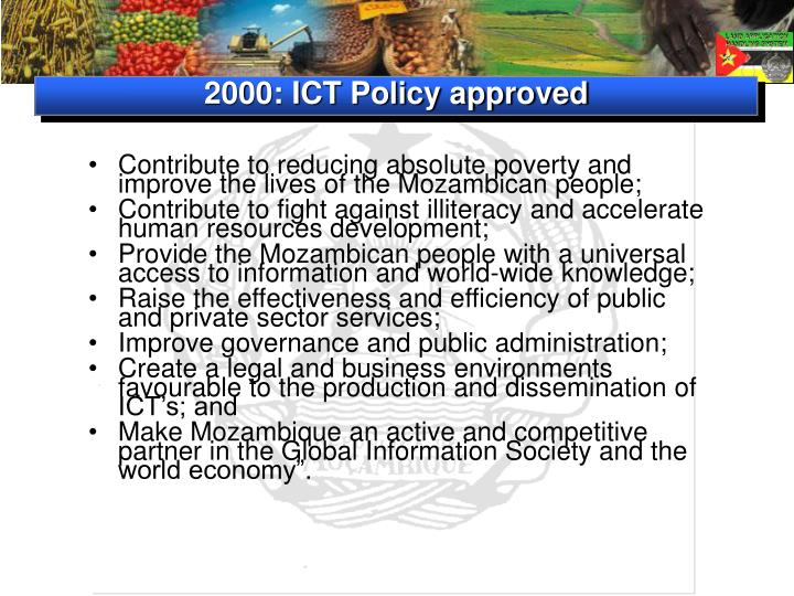 2000: ICT Policy approved