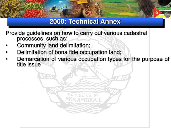 2000: Technical Annex