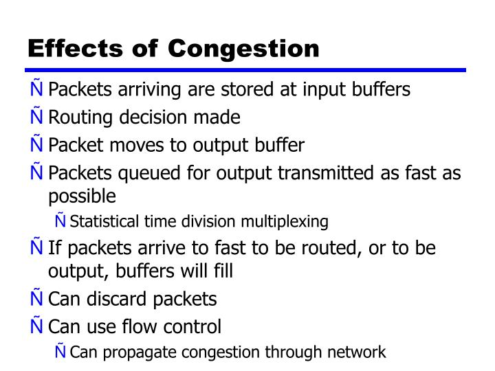 Effects of Congestion