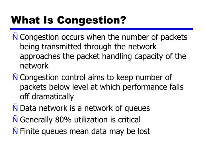 What is congestion