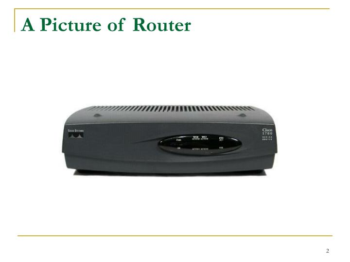 A Picture of Router
