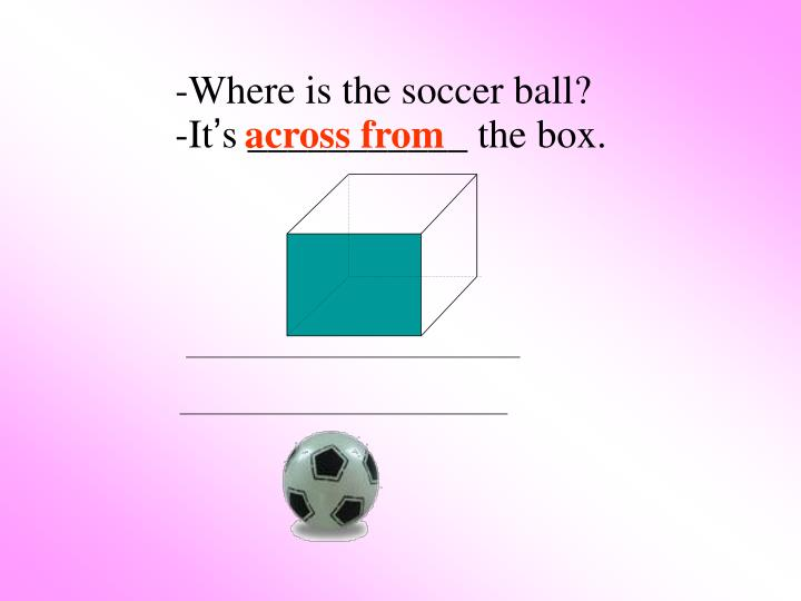 -Where is the soccer ball?