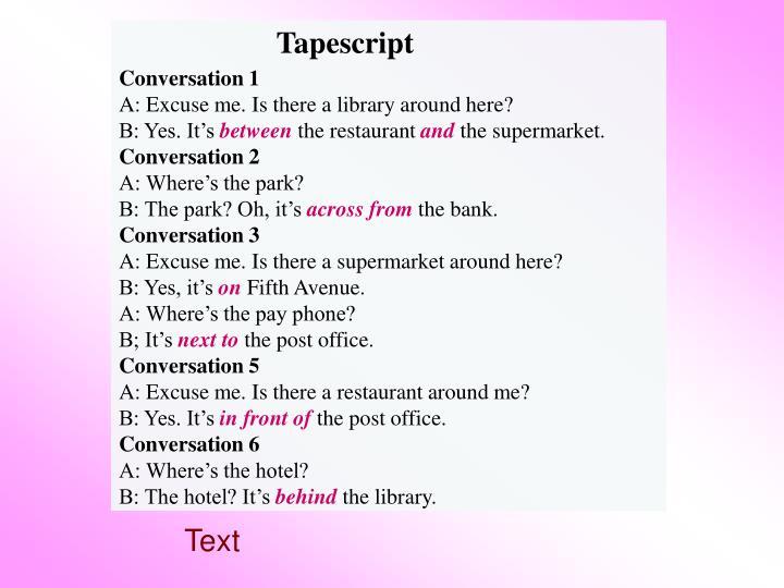 Tapescript