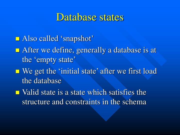 Database states