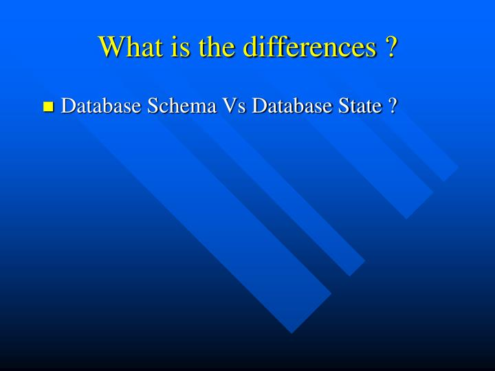 What is the differences ?