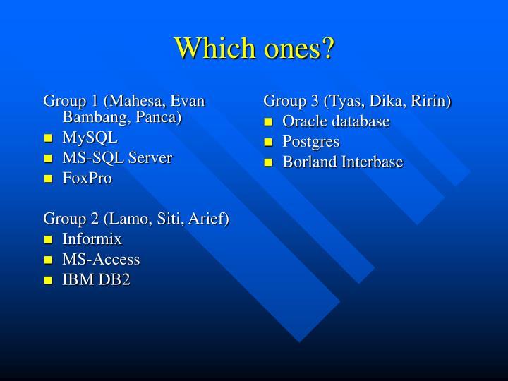 Group 1 (Mahesa, Evan Bambang, Panca)