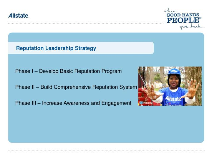 Reputation Leadership Strategy