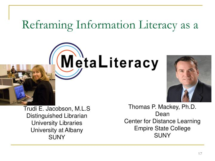 Reframing Information Literacy as a