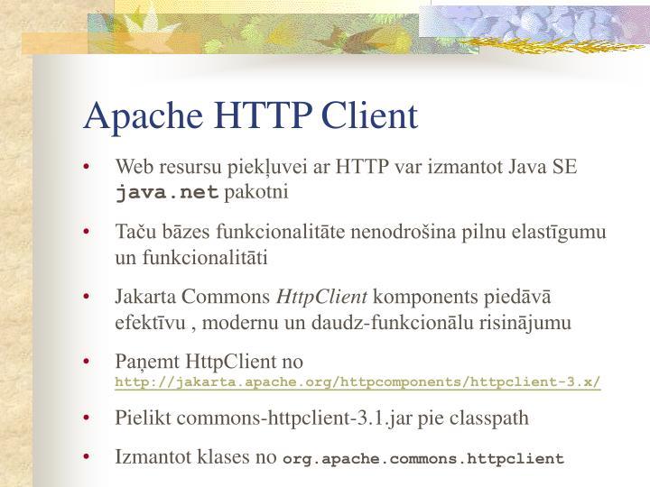 Apache HTTP Client