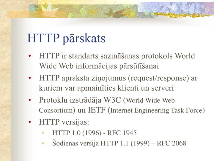 HTTP pārskats
