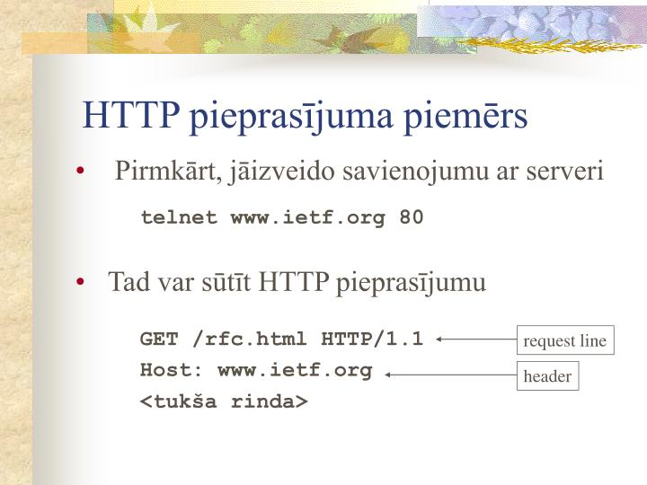 HTTP pieprasījuma piemērs
