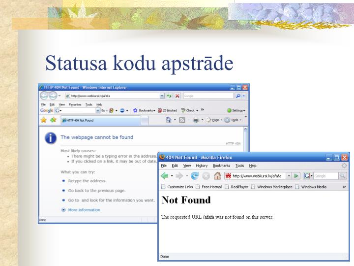 Statusa kodu apstrāde