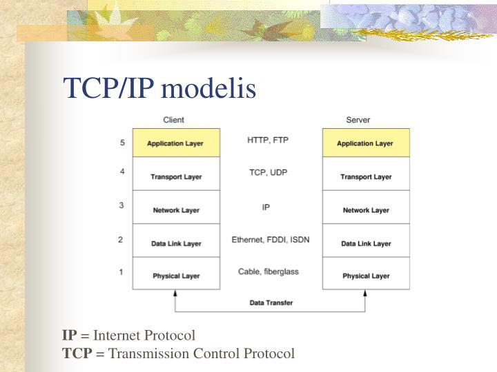TCP/IP modelis