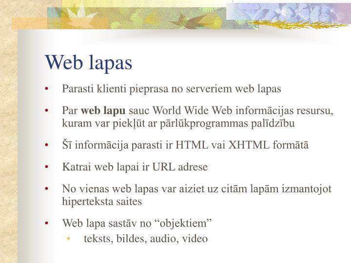 Web lapas