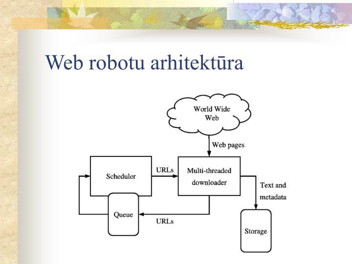 Web robotu arhitektūra