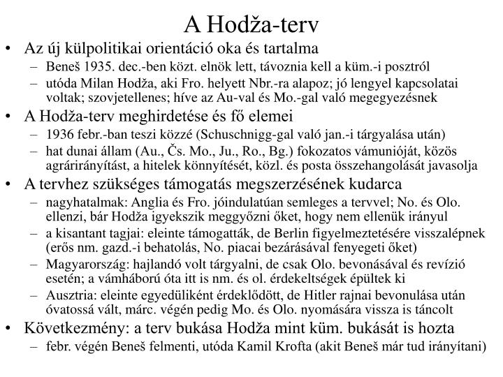 A Hodža-terv