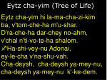 eytz cha yim tree of life