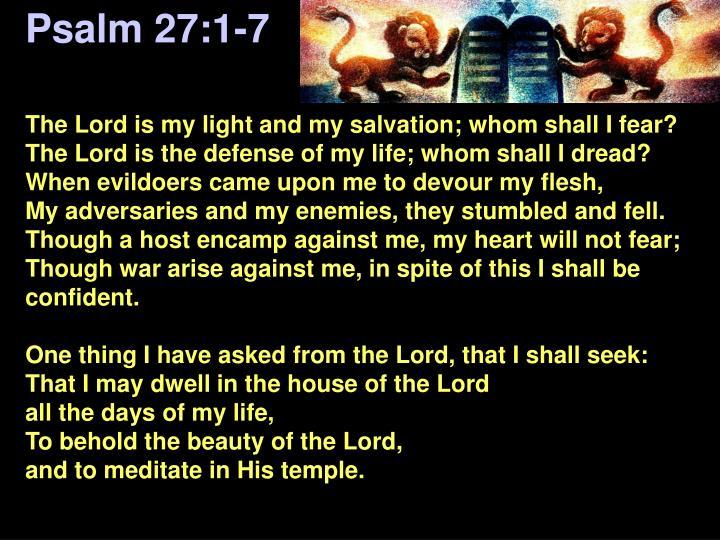 Psalm 27:1-7