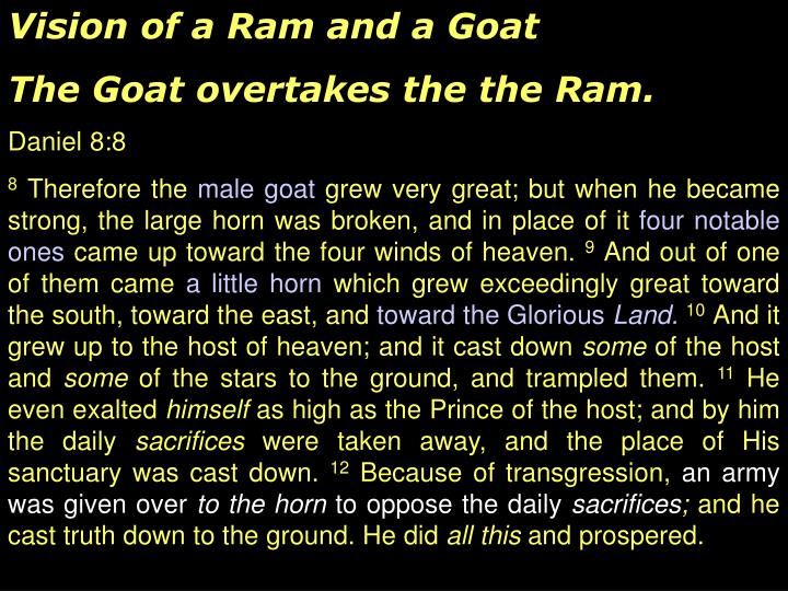 Vision of a Ram and a Goat