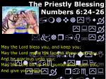 the priestly blessing numbers 6 24 26
