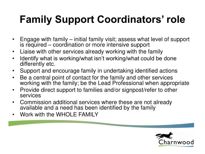Family Support Coordinators' role