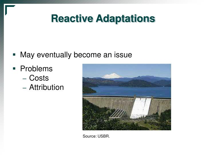 Reactive Adaptations