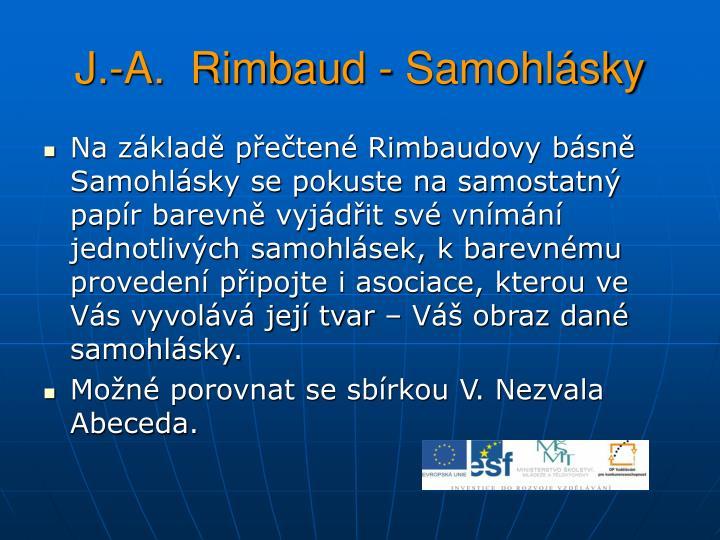 J.-A.  Rimbaud - Samohlásky