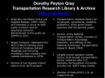 dorothy peyton gray transportation research library archive metro net library